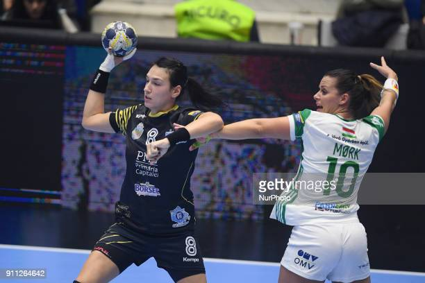 CSM Bucuresti's Cristina Neagu vs ETO Gyor's Nora Mørk during EHF Women's Champions League Main Round match between CSM Bucuresti and Gyori Audi ETO...