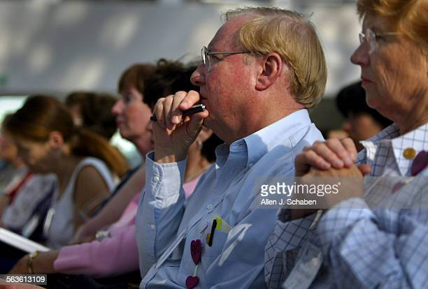 Bud and Marlene Katter, of Fort Miss, SC, right, listen to nationally recognized bully expert Barbara Coloroso, of Columbine Colorado, lectures on...