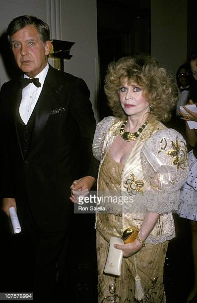 Bud Calisch and Aileen Mehle during 16th Annual Fragrance Foundations Recognition Awards at Waldorf Hotel in New York City New York United States