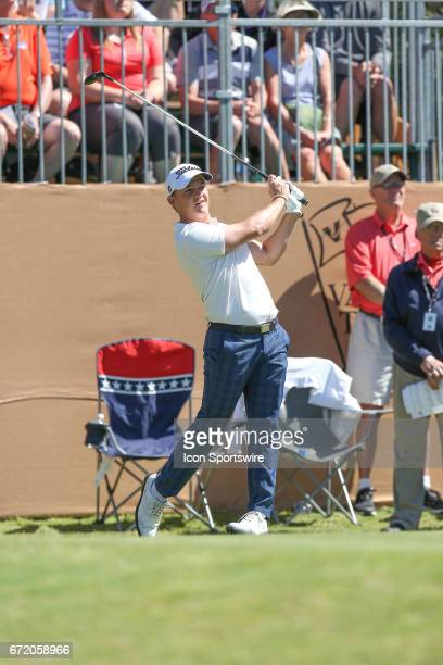 Bud Cauley during the 4th round of the Valero Texas Open at the TPC San Antonio Oaks Course in San Antonio TX on April 23 2017