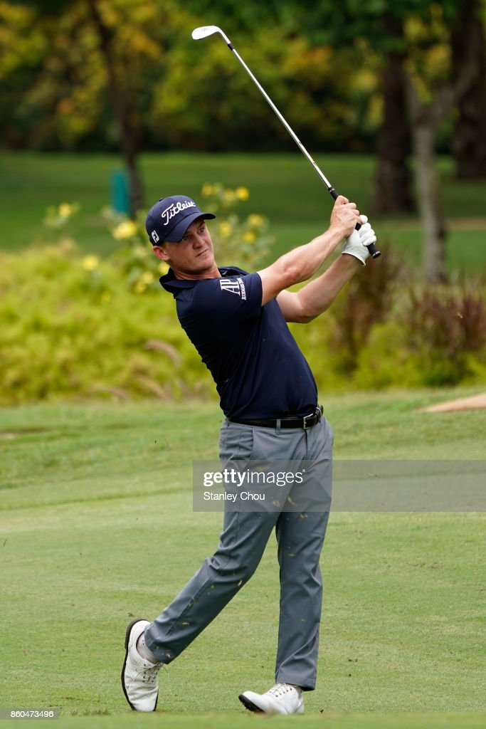 Bud Cauley of the United States in action during round one of the 2017 CIMB Classic at TPC Kuala Lumpur on October 12, 2017 in Kuala Lumpur, Malaysia.