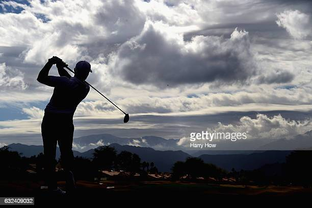 Bud Cauley plays his shot from the eighth tee during the final round of the CareerBuilder Challenge in partnership with The Clinton Foundation at the...