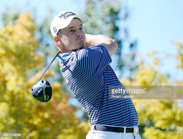 Bud Cauley plays his shot from the first tee during the final round of the Safeway Open at the North Course of the Silverado Resort and Spa on...