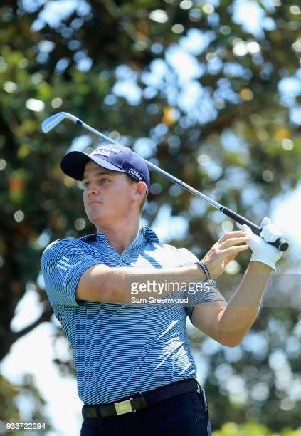 Bud Cauley plays his shot from the second tee during the final round at the Arnold Palmer Invitational Presented By MasterCard at Bay Hill Club and...