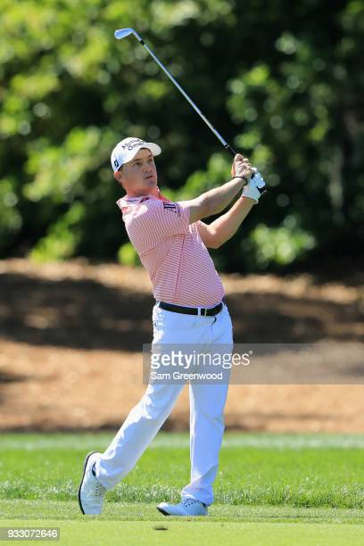 Bud Cauley plays his shot on the first hole during the third round at the Arnold Palmer Invitational Presented By MasterCard at Bay Hill Club and...