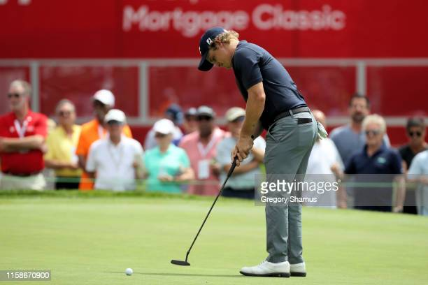 Bud Cauley putts on the 18th green during round one of the Rocket Mortgage Classic at the Detroit Country Club on June 27 2019 in Detroit Michigan