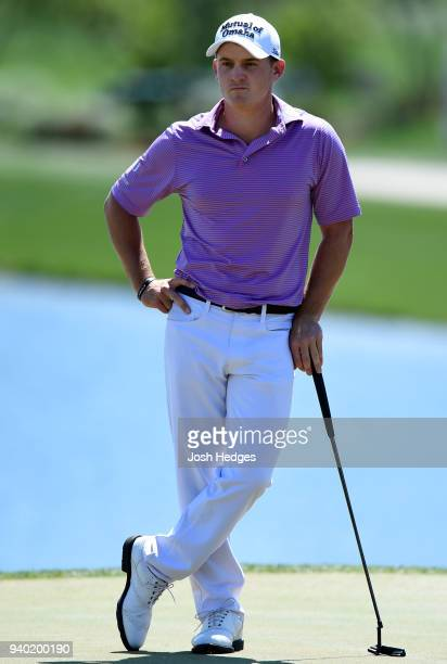 Bud Cauley stands on the 18th green during the second round of the Houston Open at the Golf Club of Houston on March 30 2018 in Humble Texas