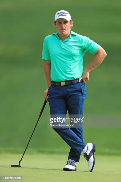 Bud Cauley waits to putt during the second round of The Memorial Tournament Presented by Nationwide at Muirfield Village Golf Club on May 31 2019 in...