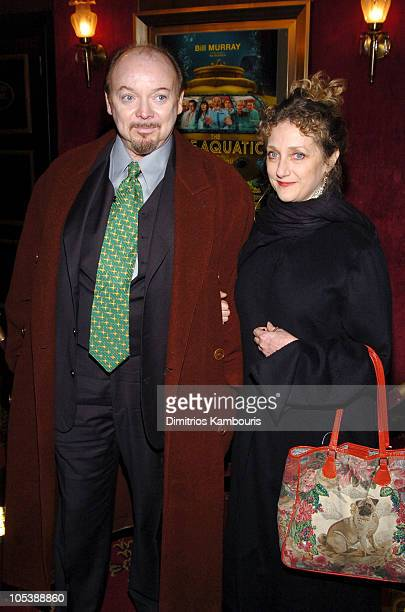 "Bud Cort and Carol Kane during ""The Life Aquatic with Steve Zissou"" New York Premiere - Inside Arrivals at Ziegfeld Theater in New York City, New..."