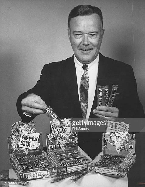 AUG 9 1967 AUG 23 1967 Bud Hilker Displays Samples of Candy Donated by Jolly Rancher it will be given at the derby