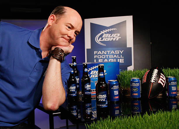Bud light and david koechner introduce bud light fantasy football bud light and david koechner introduce bud light fantasy football league at chelsea broadcast center on mozeypictures