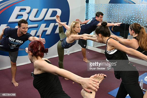 Bud Light helped two fans check 'Hot Yoga' off their bucket list in UpForWhatever fashion by surprising them with Hot Yoga with Nick and Drew Lachey...
