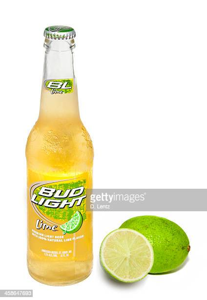 bud light lime bottle - bud light stock pictures, royalty-free photos & images