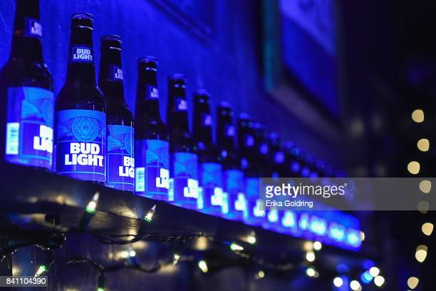 Bud Light on display at the G-Eazy performance for Bud Light's Dive Bar Tour at the Blue Nile on August 30, 2017 in New Orleans, Louisiana.
