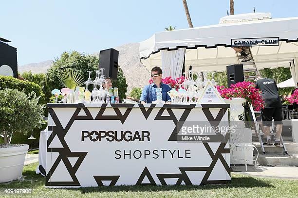 Bud Light Ritas on display at POPSUGAR SHOPSTYLE'S Cabana Club Pool Parties Day 2 at the Avalon Hotel on April 12 2015 in Palm Springs California