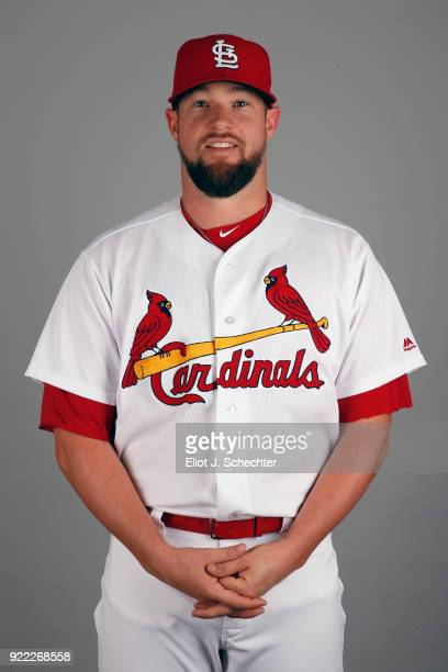 Bud Norris of the St Louis Cardinals poses during Photo Day on Tuesday February 20 2018 at Roger Dean Stadium in Jupiter Florida