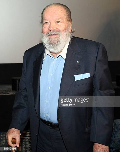 Bud Spencer, Italian actor, film producer, pilot and former professional swimmer, arrives for a signing of the German translation of his...