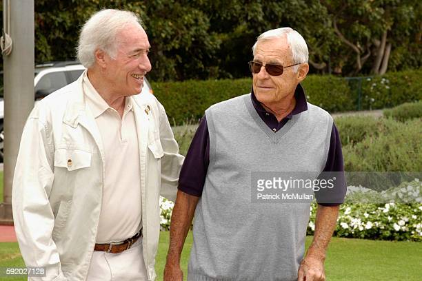 Bud Yorkin and Grant Tinker attend 8th Annual American Film Institute Golf Classic Presented By General Motors at Riviera Country Club on September...