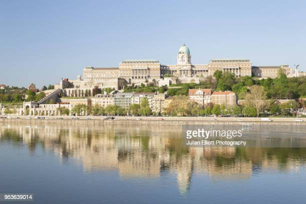 buda castle in budapest, hungary. - royal palace budapest stock pictures, royalty-free photos & images