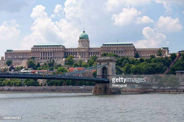 buda castle in budapest - gwengoat stock pictures, royalty-free photos & images
