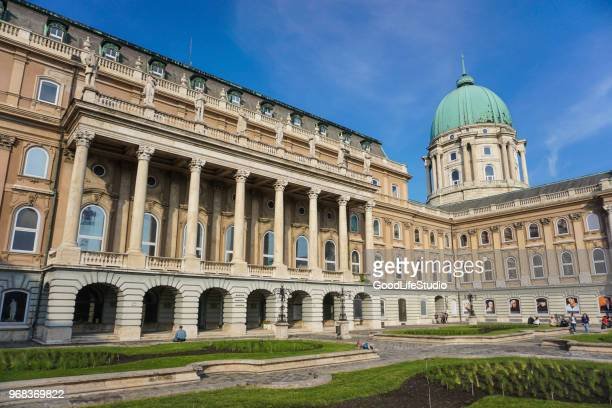 buda castle in budapest - royal palace budapest stock pictures, royalty-free photos & images