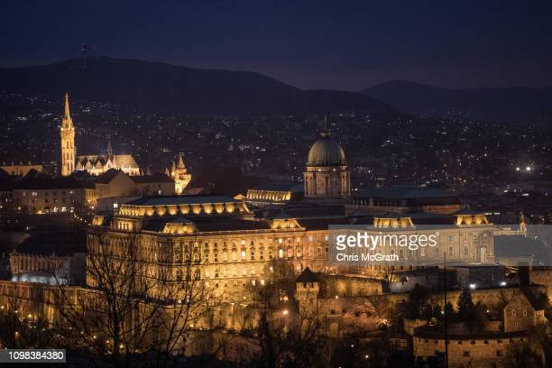 Buda Castle is seem on January 17 2019 in Budapest Hungary The Parliament building has become a site of growing protests over the past months Over...