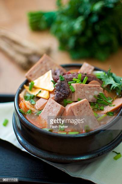 budae chijjae the american way - korean food stock pictures, royalty-free photos & images