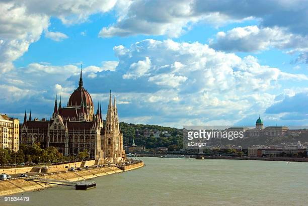budapest afternoon - royal palace budapest stock pictures, royalty-free photos & images