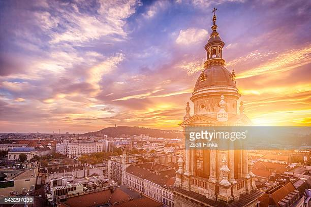 budapest basilica, hungary - budapest stock pictures, royalty-free photos & images