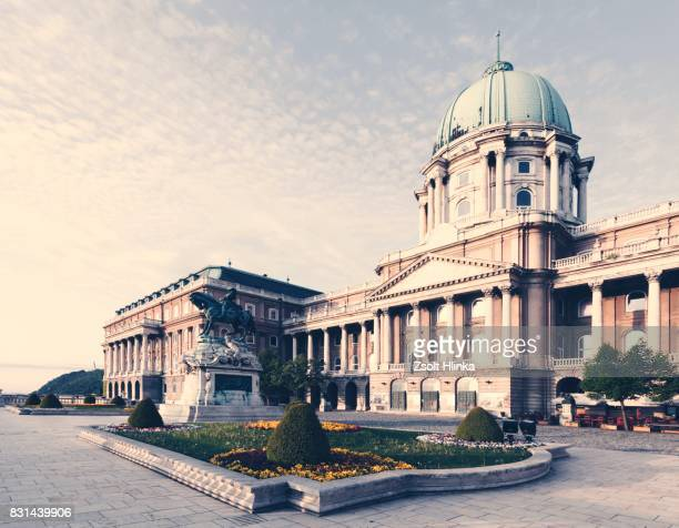 budapest castle - royal palace budapest stock pictures, royalty-free photos & images