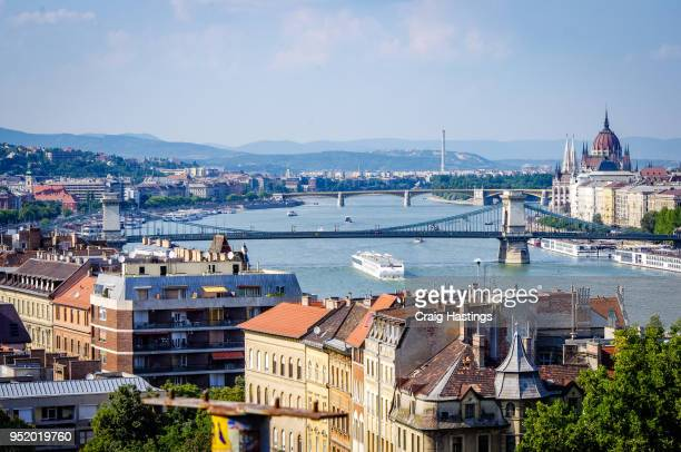 budapest city view skyline hungary - budapest stock pictures, royalty-free photos & images