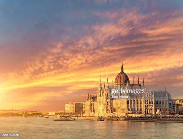Budapest citycape in sunset