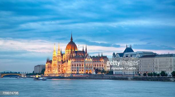 Budapest Cityscape In The Evening