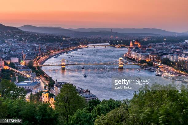 budapest cityscape - budapest stock pictures, royalty-free photos & images