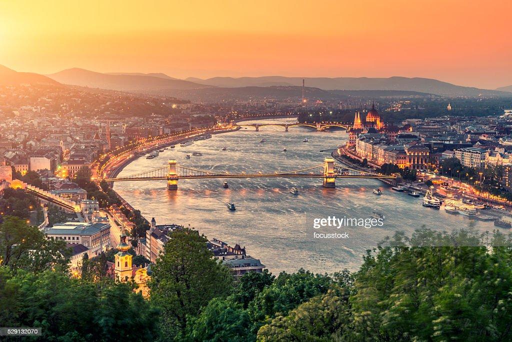 Budapest Stadtblick : Stock-Foto