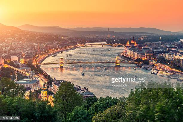 budapest cityscape - hungary stock pictures, royalty-free photos & images