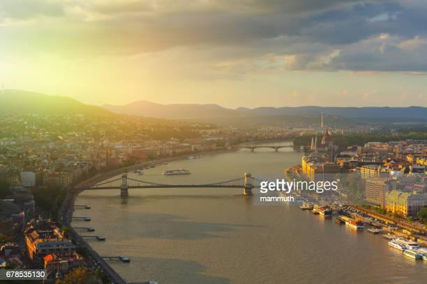 Budapest Stadtbild mit der Kettenbrücke