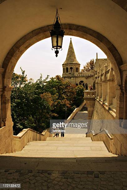 budapest fisher's bastion - royal palace budapest stock pictures, royalty-free photos & images