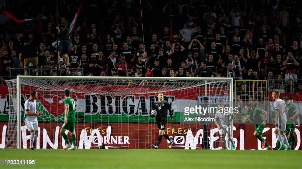 Budapest , Hungary - 8 June 2021; Republic of Ireland goalkeeper Caoimhin Kelleher during the international friendly match between Hungary and...