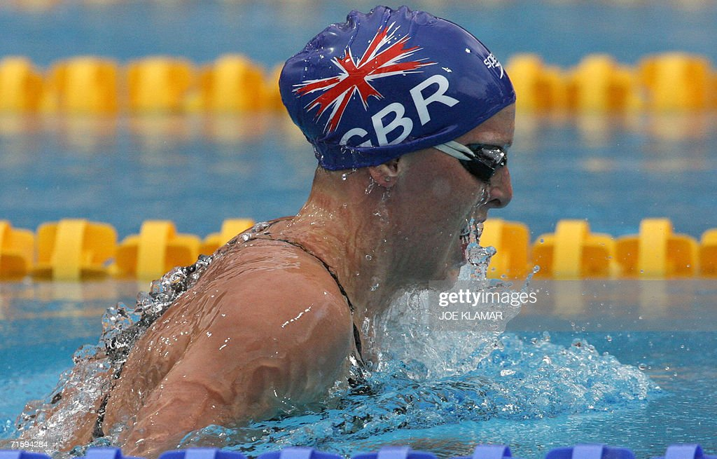 Britain's relay team's swimmer Kirsty Ba : News Photo
