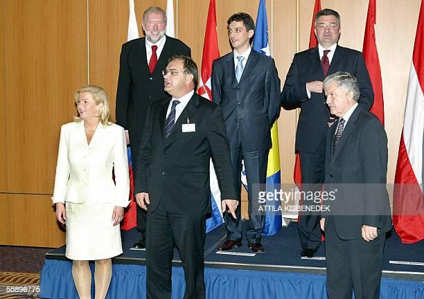 : Foreign affairs ministers and officials Croatian Kolinda Grabar Kitarovic, Slovenian Dimitrij Rupel, Bosnian Mladen Ivanic, Serbian deputy FM Petar...