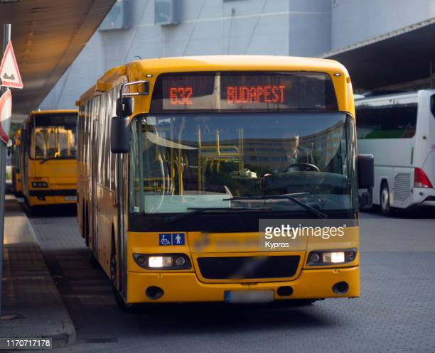 budapest, hungary - main bus station - hungary stock pictures, royalty-free photos & images