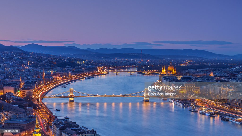 Budapest in the night : Stock Photo