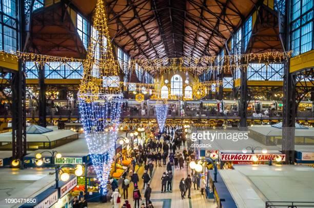 Budapest Market Hall at Christmas