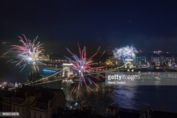 Budapest - New Year's Eve fireworks