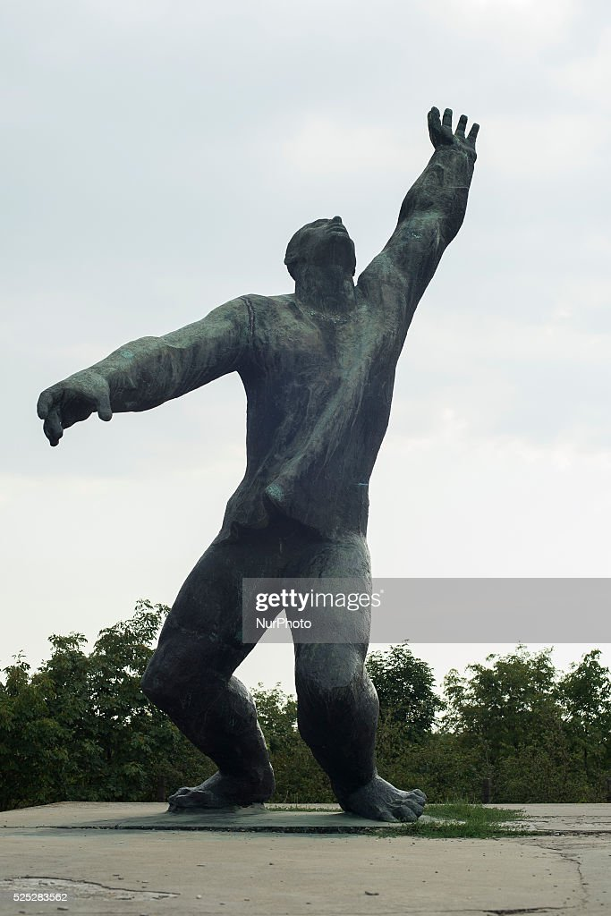 Budapest, on 5th August 2015. Memento Park is an open-air museum in Budapest, Hungary, dedicated to monumental statues from Hungary's Communist period (1949–1989). There are statues of Lenin, Marx, and Engels. The park was designed by Hungarian architect ��kos Eleod