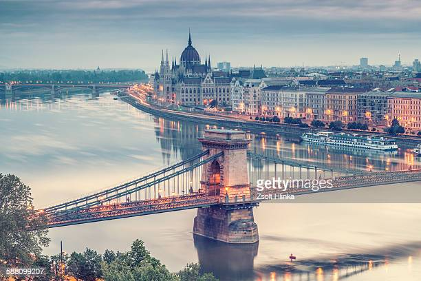 budapest panorama - danube river stock pictures, royalty-free photos & images