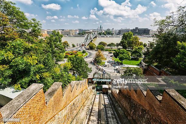budapeste - ponte széchenyi lánchíd - fotografias e filmes do acervo