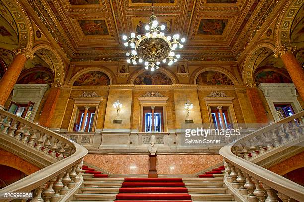 Budapest, Stairway in Hungarian State Opera House