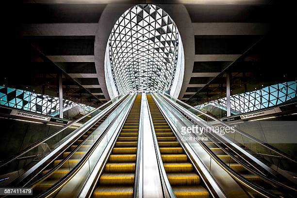 budapest subway - budapest stock pictures, royalty-free photos & images
